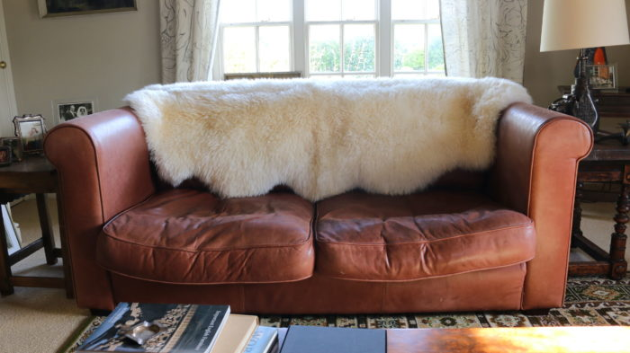 A PAIR OF 1960/70's VINTAGE, 2-SEATER, LEATHER SOFAS  OR SETTEES
