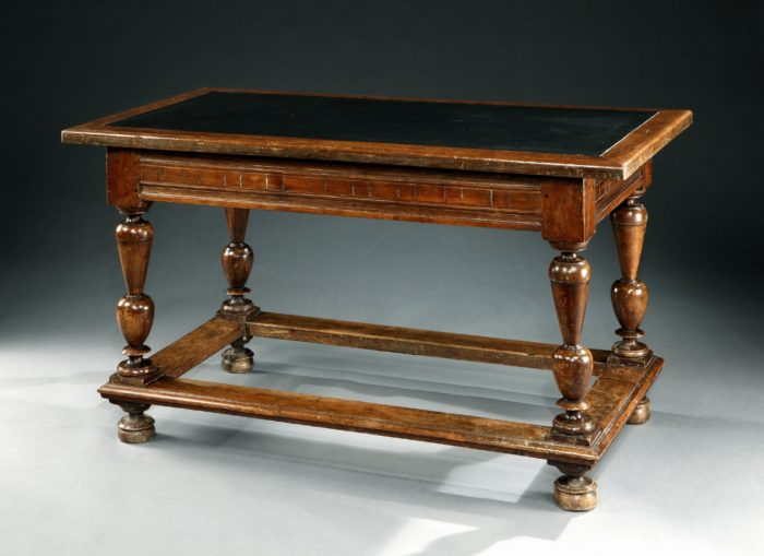 Second Renaissance 17th century French Walnut Centre Table Slate Top